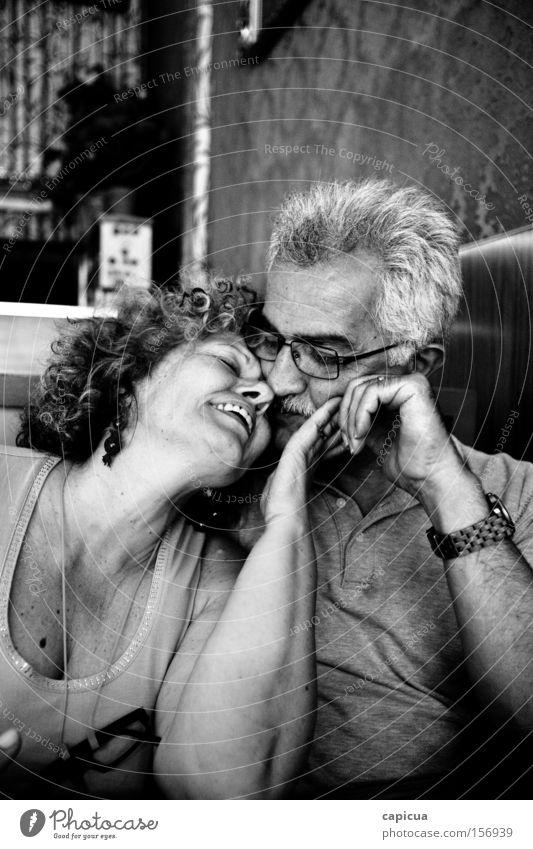 Freude Senior Liebe Gefühle Mensch Paar Fröhlichkeit Lächeln Leben Lebensmitte