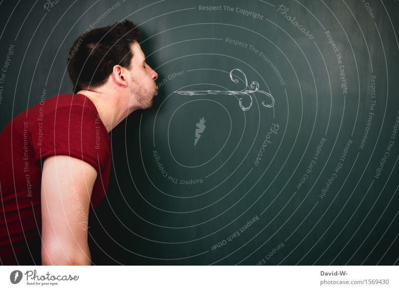 Luft Körper Gesundheit Gesundheitswesen Behandlung sportlich Fitness Leben Sportler Tafel Mensch maskulin Mann Erwachsene Mund 1 Kunst Künstler atmen grün
