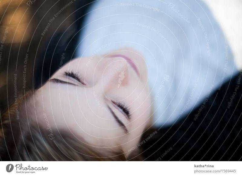 Frühling . Mensch feminin Junge Frau Jugendliche Gesicht 1 18-30 Jahre Erwachsene brünett ästhetisch schön Zufriedenheit Frühlingsgefühle ruhig Erholung Glück