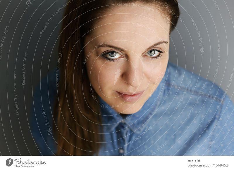 hey! elegant Stil Mensch feminin Junge Frau Jugendliche Erwachsene Kopf 1 30-45 Jahre Haare & Frisuren brünett langhaarig Locken Gefühle Stimmung Blick intensiv