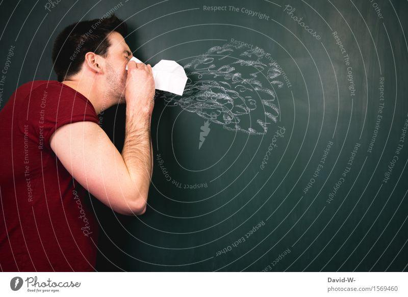 niesen Gesundheit Gesundheitswesen Behandlung Fitness Krankheit Allergie Erholung Mensch maskulin Junger Mann Jugendliche Erwachsene Leben Körper Nase 1 Kunst
