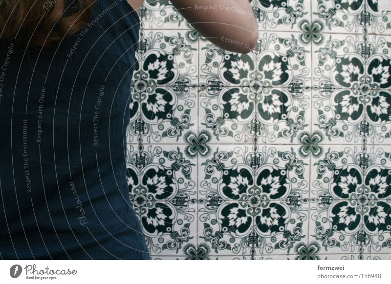 Green Pattern Farbe Mauer fließen Argentinien Südamerika Buenos Aires