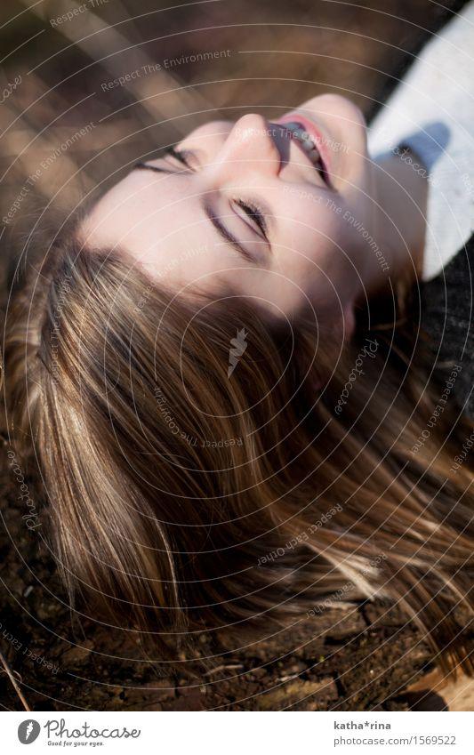 Frühling . iii Mensch feminin Junge Frau Jugendliche Haare & Frisuren Gesicht 1 18-30 Jahre Erwachsene Natur Baum Fröhlichkeit frisch schön braun Glück