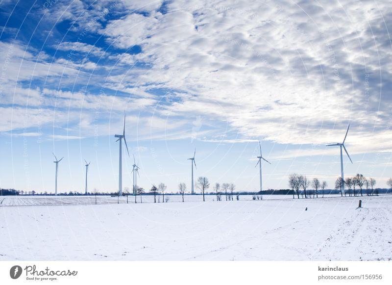 Natur weiß blau Winter kalt Schnee Landschaft Kraft Wind Umwelt Energie Industrie Energiewirtschaft Industriefotografie Mühle