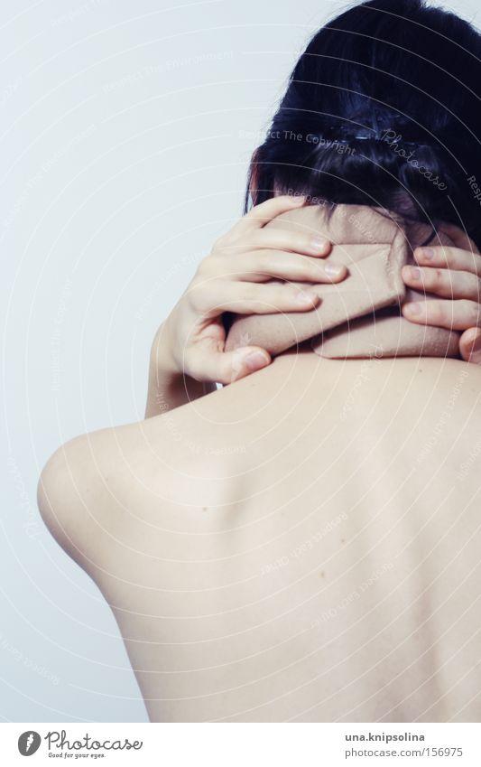 schmerz Hand Gesundheit Rücken Gesundheitswesen festhalten Schmerz Nacken Qual Wirbelsäule Rückenschmerzen Kopfstütze