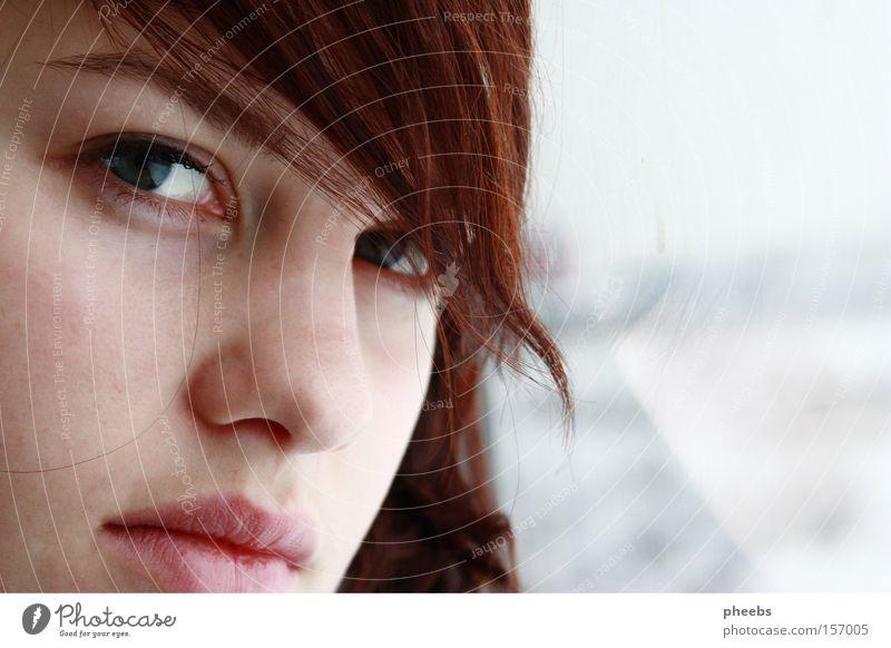 .dich.noch.einmal.sehen. weiß Winter Auge Schnee Haare & Frisuren Eisenbahn Porträt Lippen Locken Gesichtsausdruck