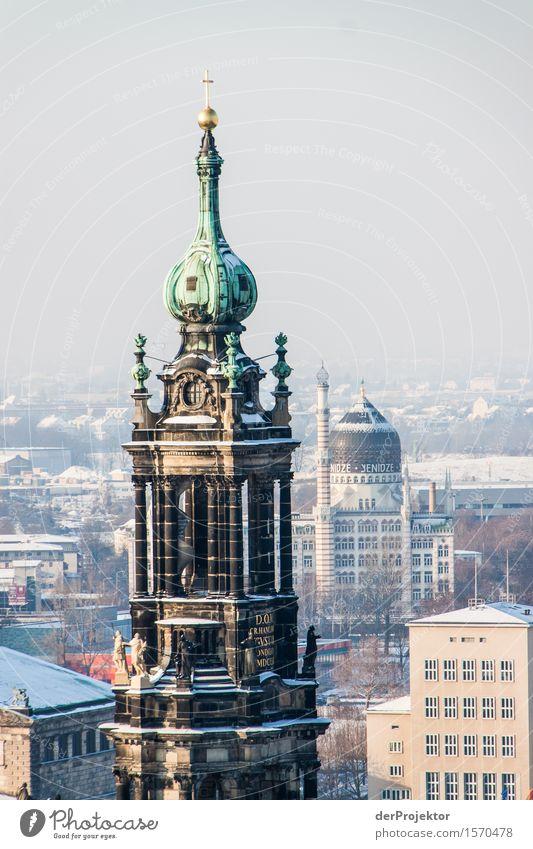 Hofkirche in Dresden Ferien & Urlaub & Reisen Tourismus Ausflug Ferne Sightseeing Städtereise Hauptstadt Kirche Bauwerk Gebäude Architektur Sehenswürdigkeit