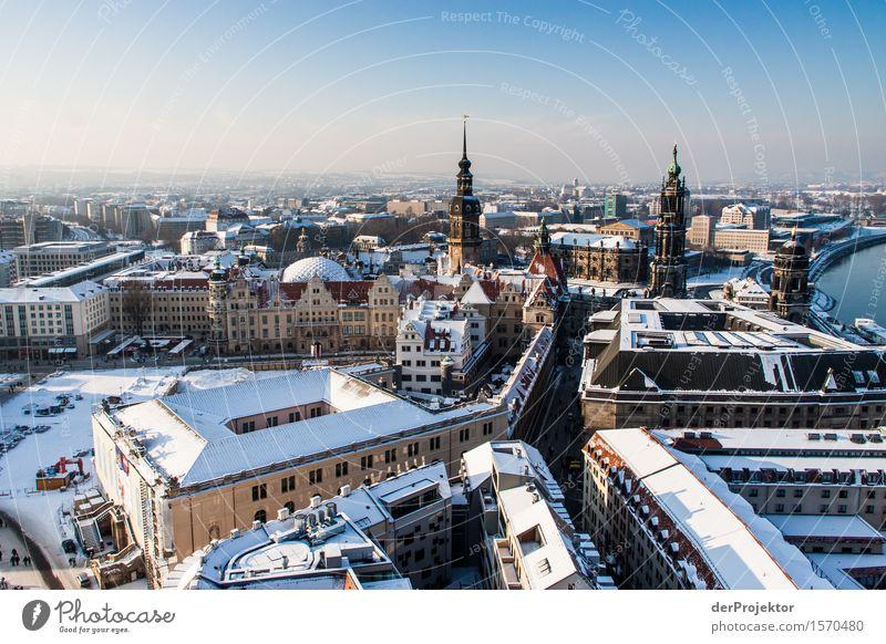 Panorama in Dresden 2 Ferien & Urlaub & Reisen Tourismus Ausflug Ferne Freiheit Sightseeing Städtereise Winterurlaub Hauptstadt Altstadt Bauwerk Gebäude