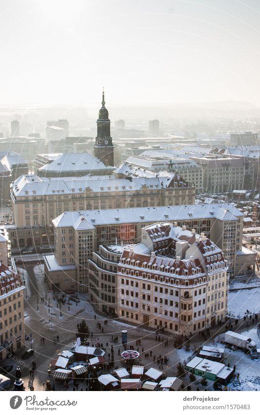 Weiße Weihnacht in Dresden Ferien & Urlaub & Reisen Weihnachten & Advent Freude Ferne Winter kalt Schnee Tourismus Ausflug Kirche Lebensfreude kaufen