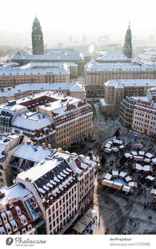 Weihnachtsmarkt in Dresden Ferien & Urlaub & Reisen Weihnachten & Advent Ferne Architektur Gefühle Gebäude Tourismus Freiheit Ausflug Kirche Neugier