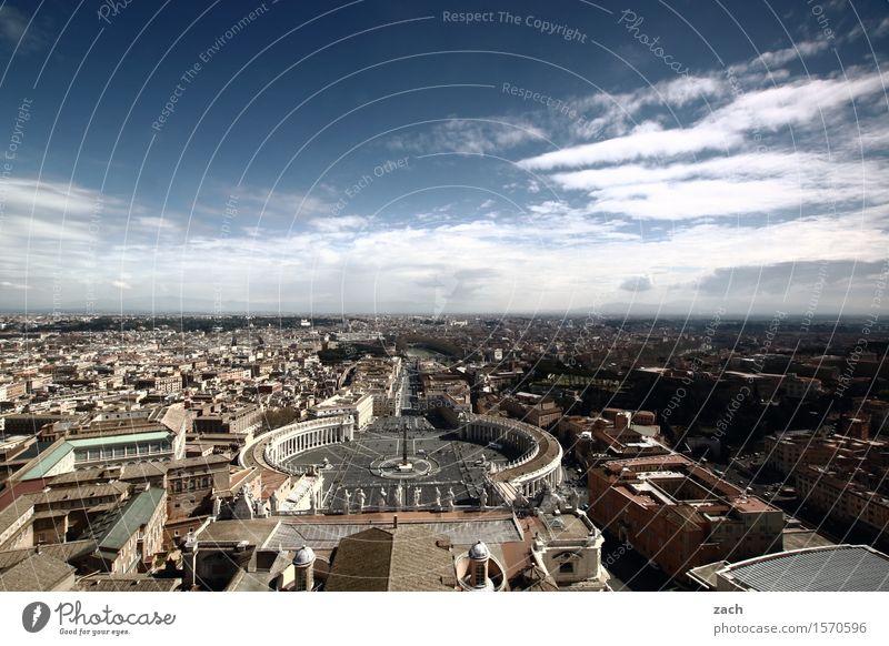 Das wird mal alles Dir gehören... Himmel Ferien & Urlaub & Reisen Stadt alt blau Wolken Religion & Glaube Horizont Tourismus Kirche Platz Italien Schönes Wetter
