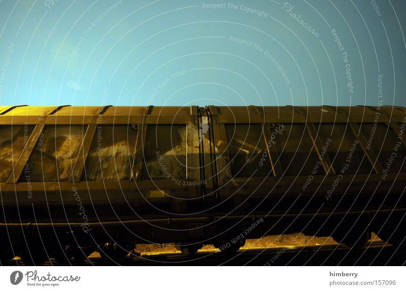 trainspotting Eisenbahn Verkehr Güterverkehr & Logistik Eisenbahnwaggon Güterwaggon Container Spedition Gleise Schienenverkehr Industrie