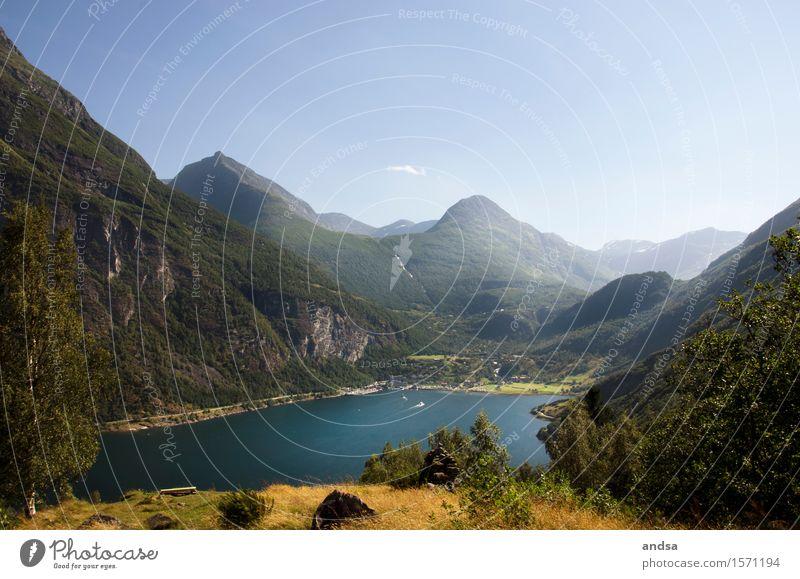 Gerianger, Norwegen Ferien & Urlaub & Reisen Ausflug Abenteuer Ferne Freiheit Sightseeing Sommer Sommerurlaub wandern Natur Landschaft Wolkenloser Himmel
