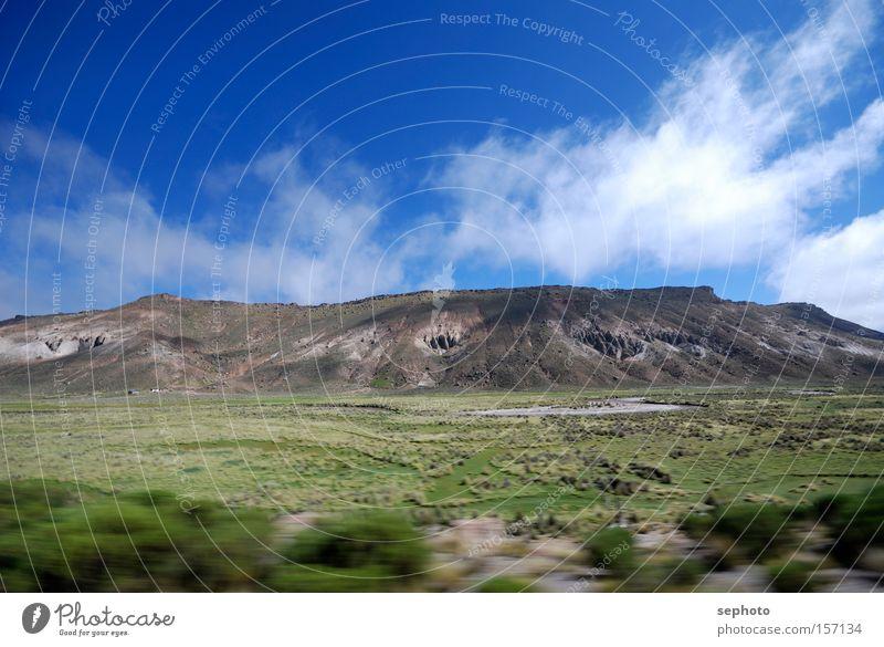 Boliviano Anden Berge u. Gebirge Himmel Wolken Unschärfe Kontrast Bewegung Wüste Bolivien Hochebene Chile Highlands Südamerika Sommer Landschaft