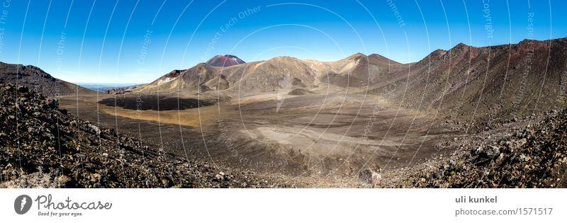 Tongariro Nationalpark Himmel Natur Ferien & Urlaub & Reisen Sommer Sonne Landschaft Ferne Berge u. Gebirge Freiheit Sand Felsen Tourismus Luft Erde wandern