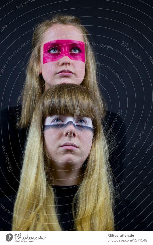 Alexaund Carina | übereinander Mensch feminin Junge Frau Jugendliche Kopf Haare & Frisuren 2 18-30 Jahre Erwachsene Kunst Künstler Theaterschauspiel