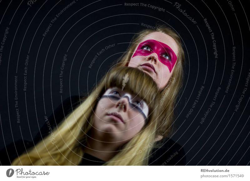 kriegerinnen Mensch feminin Junge Frau Jugendliche Freundschaft 2 18-30 Jahre Erwachsene Kunst Künstler Schauspieler kämpfen Aggression außergewöhnlich exotisch