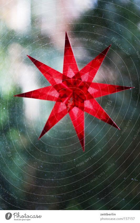 Rechtzeitig an Weihnachten denken Weihnachten & Advent Fenster Papier Stern (Symbol) Dekoration & Verzierung Häusliches Leben Klarheit Reichtum durchsichtig