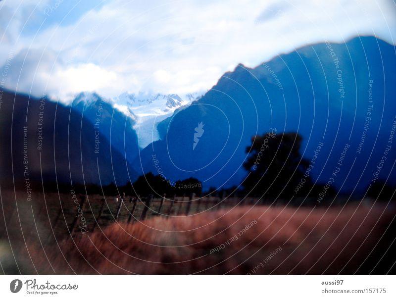 Gletschereis Berge u. Gebirge Tal monumental Auenland Eis Skiing Schnee