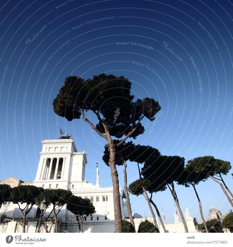 Blau machen | Der Himmel über Rom II Schönes Wetter Italien Stadt Hauptstadt Stadtzentrum Altstadt Palast Platz Piazza Venezia Sehenswürdigkeit Wahrzeichen