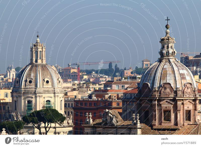 Über den Dächern von Rom Himmel Ferien & Urlaub & Reisen Stadt alt Baum Haus Religion & Glaube Kirche Italien Turm historisch Hauptstadt Sehenswürdigkeit