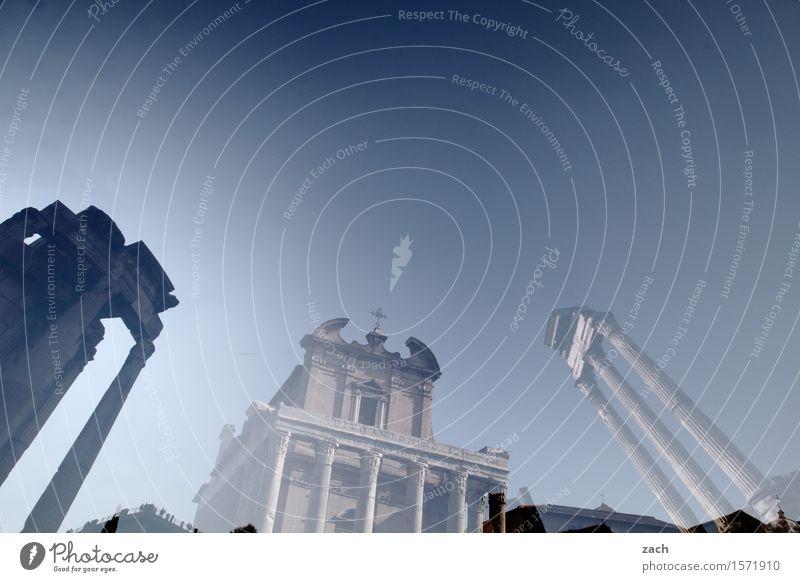 viele alte Steine Ferien & Urlaub & Reisen Tourismus Sightseeing Städtereise Himmel Sonnenlicht Rom Italien Stadt Stadtzentrum Altstadt Religion & Glaube Kirche