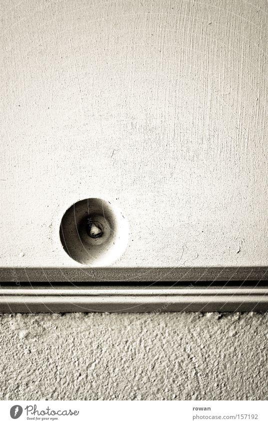 _o____ Hintergrundbild weiß Mauer Kasten Verschluss Wand Strukturen & Formen Linie Loch Detailaufnahme