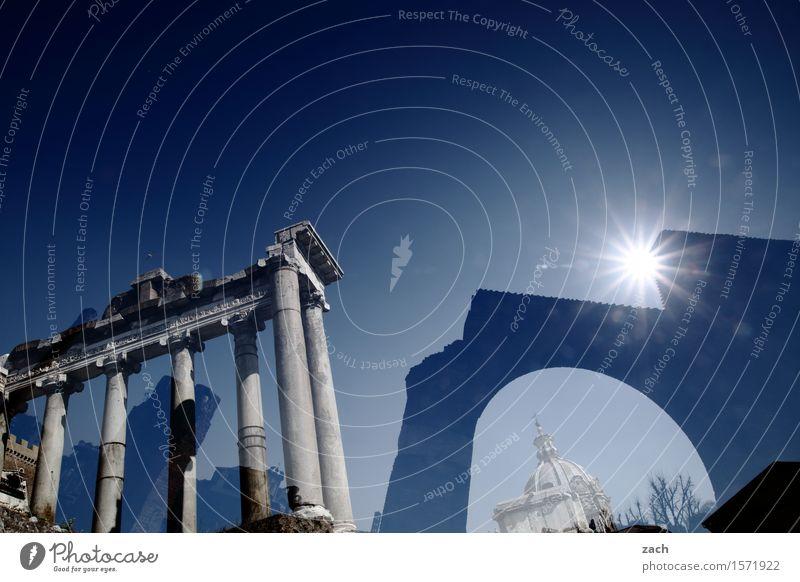 Die Entdeckung des Himmels Ferien & Urlaub & Reisen Tourismus Sightseeing Städtereise Sonne Sonnenlicht Schönes Wetter Rom Italien Stadt Stadtzentrum Altstadt