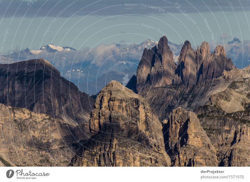 Fantastischer Fernblick in den Dolomiten Ferien & Urlaub & Reisen Tourismus Ausflug Abenteuer Ferne Freiheit Berge u. Gebirge wandern Umwelt Natur Landschaft