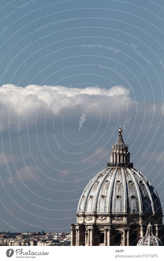 Wolkenkuckucksheim Ferien & Urlaub & Reisen Tourismus Sightseeing Städtereise Himmel Schönes Wetter Rom Vatikan Italien Stadt Hauptstadt Stadtzentrum Altstadt
