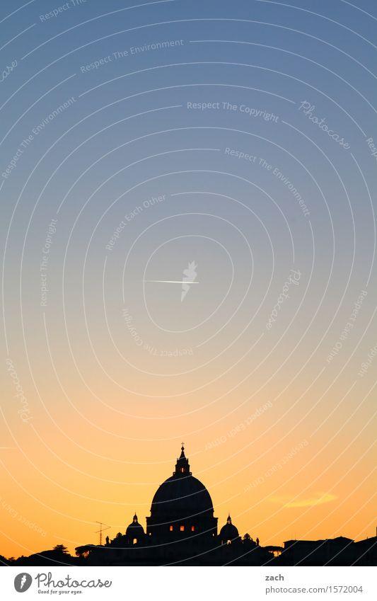 Erleuchtet Ferien & Urlaub & Reisen Sightseeing Städtereise Himmel Sonnenaufgang Sonnenuntergang Rom Vatikan Italien Stadt Hauptstadt Stadtzentrum Altstadt