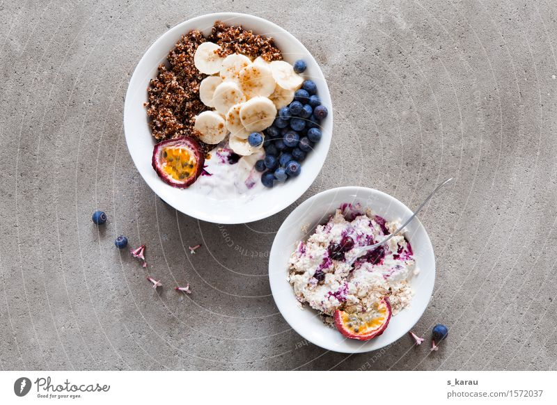 Frühstück Lebensmittel Frucht Ernährung Bioprodukte Vegetarische Ernährung Diät Schalen & Schüsseln Gesundheit Gesunde Ernährung frisch mehrfarbig genießen