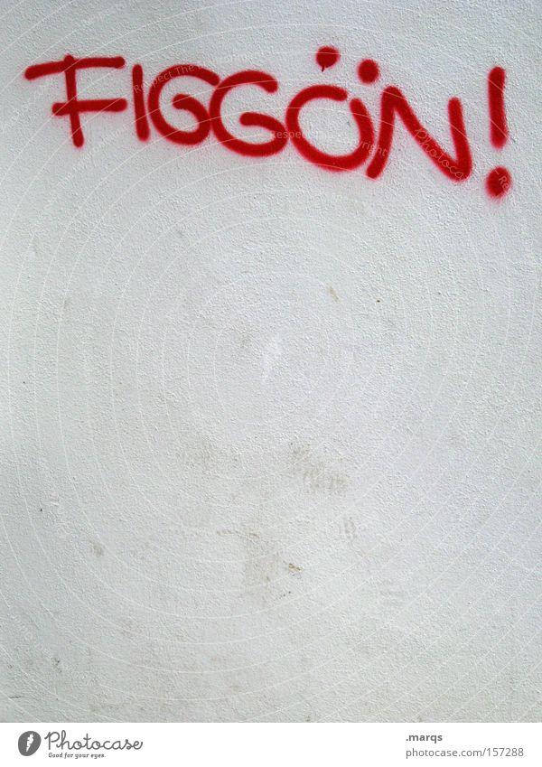 Mundart weiß Stadt rot Freude Graffiti außergewöhnlich Schriftzeichen Lifestyle Kommunizieren Schriftstück Leidenschaft Typographie Jugendkultur Partnerschaft