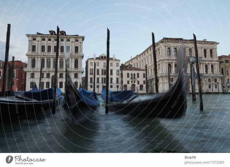Venedig in Bewegung Lifestyle elegant Stil Ferien & Urlaub & Reisen Tourismus Sightseeing Städtereise Wasser Wolkenloser Himmel Schönes Wetter Wellen Kanal
