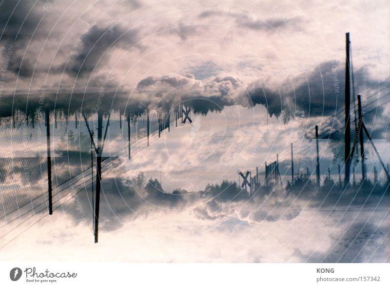 horizonterweiterung Himmel Wolken träumen Luft Stimmung Wetter Horizont Romantik Klima Surrealismus Doppelbelichtung Klimawandel Atmosphäre
