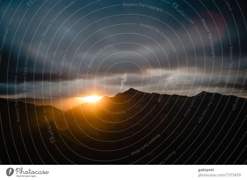 und tschüss Leben harmonisch Wohlgefühl Zufriedenheit Sinnesorgane Erholung ruhig Meditation Berge u. Gebirge wandern Umwelt Natur Landschaft Himmel Wolken