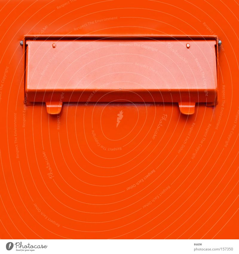 Posteinwurfkasten rot Liebe Metall orange einfach Kontakt eckig anonym Verabredung Briefkasten knallig Schlitz Klappe Liebesbrief