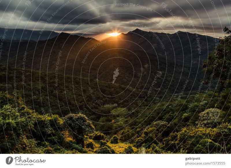 Sierra Maestra Ferien & Urlaub & Reisen Ausflug Abenteuer Ferne Freiheit wandern Natur Landschaft Pflanze Tier Urelemente Himmel Wolken Gewitterwolken Horizont