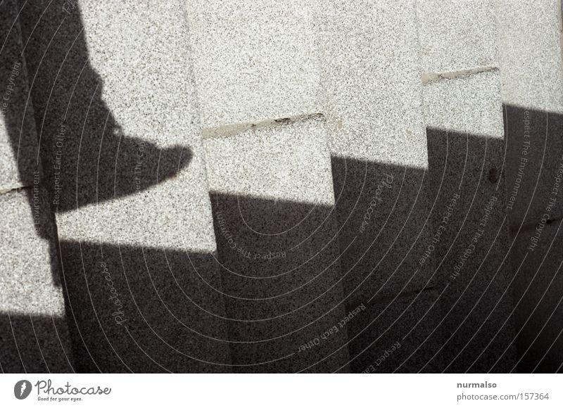 es geht aufwärts Mensch Stein Wege & Pfade Fuß Treppe Boden Ziel Verkehrswege Leder Geister u. Gespenster aufsteigen Funsport Schuhbänder virtuell geisterhaft