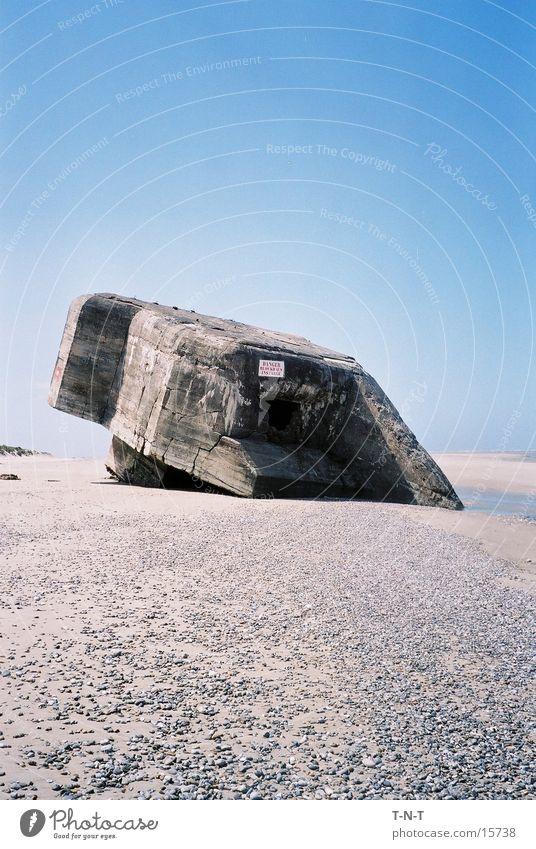 Bunker Strand Frankreich historisch Ebbe Bunker Normandie