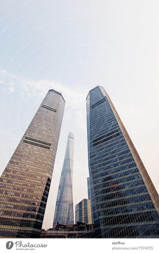 Far East Coast Hochhaus Stadt Sonnenuntergang Shanghai Pu Dong China Fortschritt shanghai tower Schönes Wetter Farbfoto Außenaufnahme Menschenleer
