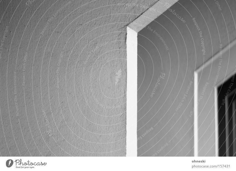 Abgeknickt Haus Träger Säule Knick tragen graphisch Architektur Linie Beton Detailaufnahme Schwarzweißfoto