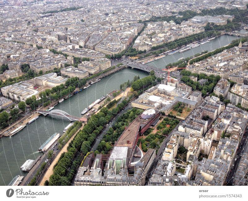 Luftaufnahme einer Stadt in Paris, Frankreich Ferien & Urlaub & Reisen oben Europa Ziel Hauptstadt Flugzeugausblick
