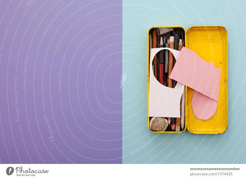 Osterwerkstatt II Kunst Kunstwerk ästhetisch Symmetrie Schulunterricht Schule Schreibstift viele Kreativität Design Idee violett graphisch gestalten Basteln
