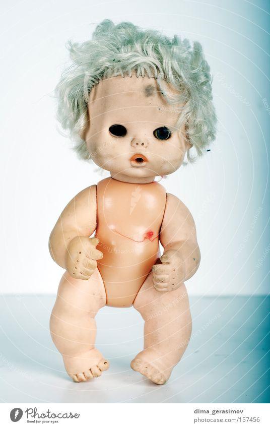 blau Auge Farbe Beine Angst Körper Behaarung Lippen Puppe Panik Entsetzen Alptraum Spielzug
