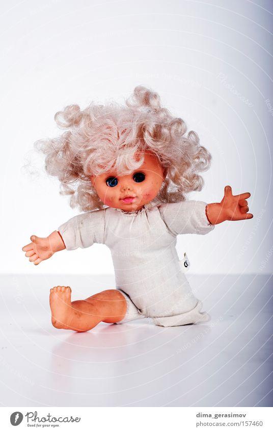 blau Farbe Auge Beine Angst Behaarung Lippen Puppe Panik Entsetzen Alptraum Spielzug