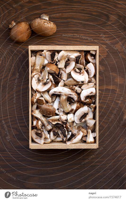 jeschnibbelte Pilze II Lebensmittel Champignons Ernährung Bioprodukte Vegetarische Ernährung Vegane Ernährung Gesundheit Billig lecker natürlich braun genießen