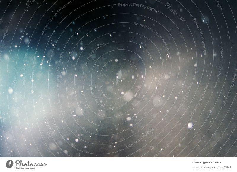 Staub Staubwischen Nacht Bewegung Molekül Schnee Winter Trauer Verzweiflung Farbe lebend