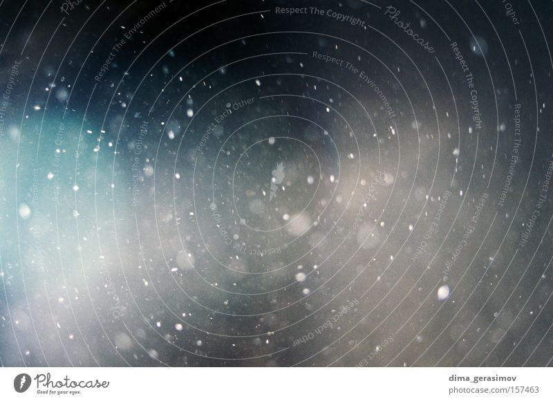 Winter Farbe Schnee Bewegung Trauer Verzweiflung Nacht Staub Staubwischen Molekül