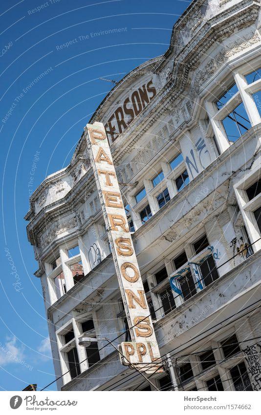 Alles nur Fassade Melbourne Victoria Stadtzentrum Altstadt Haus Gebäude Architektur alt schön trashig trist Entkernung Umbauen Modernisierung Spekulationsobjekt